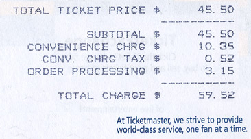 TAL ticket receipt