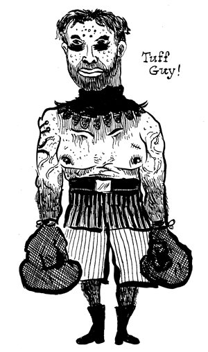 tuff guy, the creepy clown boxer